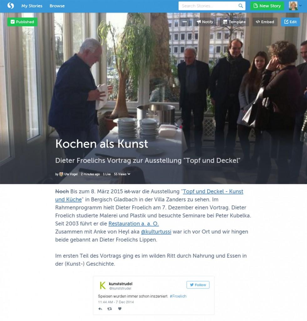 storify zum Vortrag von Dieter Froelich